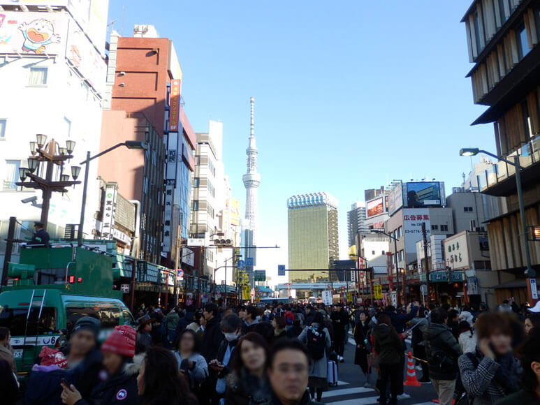 東京都旅行観光浅草寺周辺