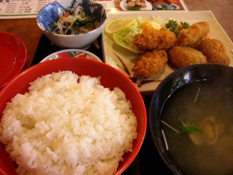 宮城県旅行観光松島海岸カキフライ定食