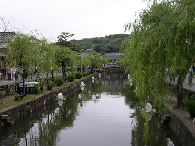 岡山県旅行観美観地区倉敷川周辺